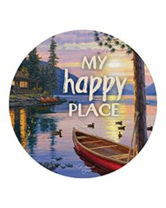 Carson Home Accents My Happy Place Car Coaster