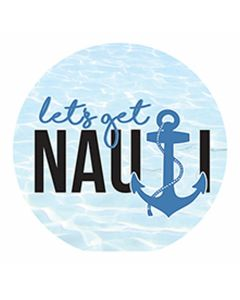 Carson Home Accents Let's Get Nauti Car Coaster