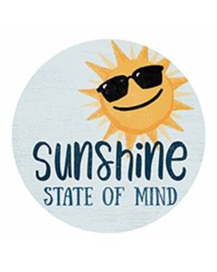 Carson Home Accents Sunshine Mind Car Coaster