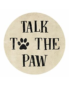 Carson Home Accents Car Coaster - Talk to the Paw