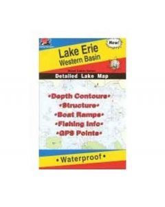 Fishing Hot Spot Erie Lake (west) Map
