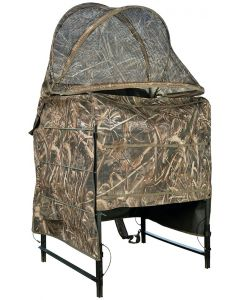 Drake Waterfowl Ghillie Shallow Water Chair Blind - Realtree Max-5