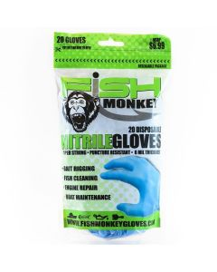 Fish Monkey Disposable Nitrile Glove L/XL Lt Blue