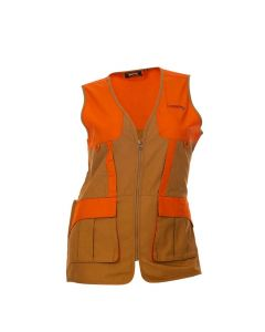 DSG Outerwear Upland Hunting Vest - Tan/Blaze Orange
