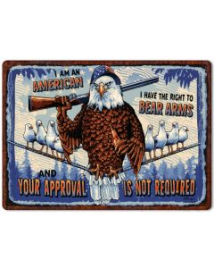 Rivers Edge No Approval Tin Sign