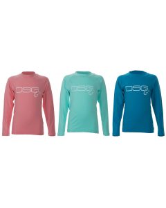 DSG Fishing - Youth Solid Shirt - UPF 50 - Salmon, Aqua or Sea Blue