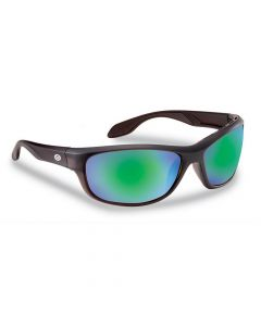 Flying Fisherman Cayo Polarized Sunglasses Matte Bronze Frame with Amber Green Mirror Lens