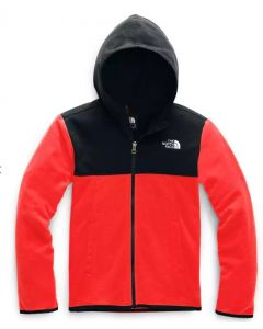 The North Face Boy's Glacier Full Zip Hoody Fiery Red