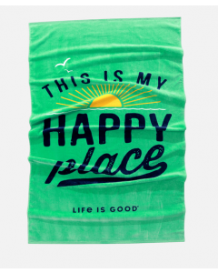 Life Is Good Happy Place Beach Towel