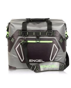 Engel High Performance 30 Liter TPU Waterproof Soft Sided Cooler, Gray and Green