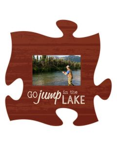 P Grahm Dunn Puzzle Frame-Go Jump in a Lake