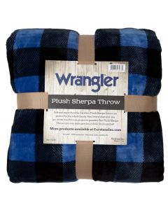 Carstens Wrangler Lumberjack Plaid Blue Throw