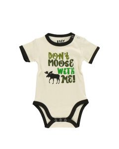 Lazy One Don't Moose with Me Green Infant Creeper Onesie
