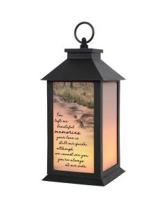 Carson Home Accents LED Flickering Lantern - You Left Me Beautiful Memories