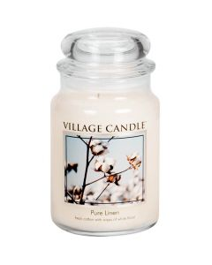 Village Candle Large Jar Scented Candle - Pure Linen
