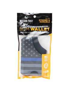 Mission First Tactical Blue Line American Flag Wallet