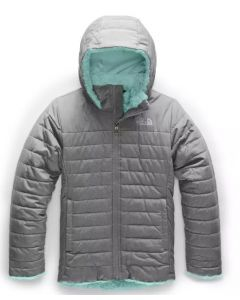 The North Face Girl's Mossbud Rev. Swirl Jacket Grey/Blue