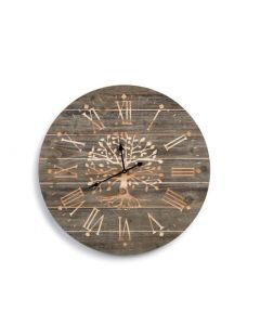 Demdaco Barnwood Carved Family Tree Clock