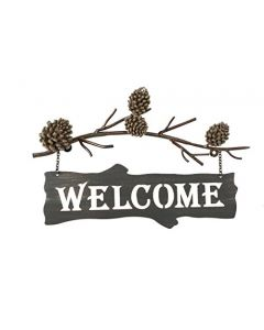 Willow Street Designs Pine Cone Welcome Sign