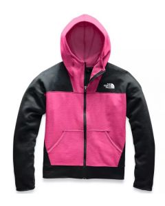 The North Face Girl's Glacier Full Zip Hoody Pink