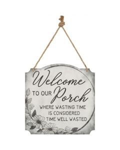Metal Wall Sign - Welcome to Our Porch