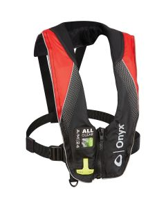Onyx A/M-24 Deluxe - Automatic/Manual Inflatable Life Jacket (PFD) - Red - Adult