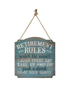 Metal Wall Sign - Retirement Rules