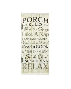 Young's Wood Front Porch Rules Sign