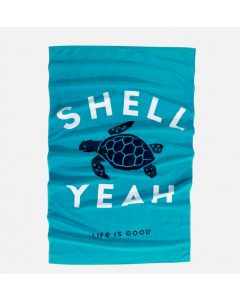 Life Is Good Shell Yeah Turtle Beach Towel