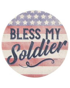 Carson Home Accents Bless My Soldier Car Coaster