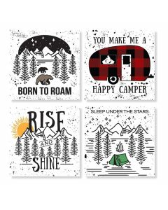 Carson Home Accents Camp Travel Coaster Set