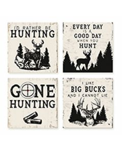 Carson Home Accents Hunting Coaster Set