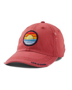 Life Is Good Sunset Sunwashed Chill Cap