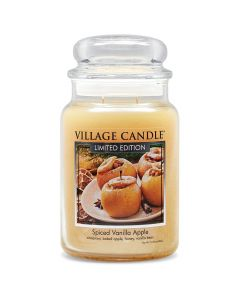 Village Candle Large Jar Scented Candle - Spiced Vanilla Apple