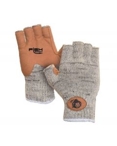 Fish Monkey Half Finger Wool Fishing Glove Gray