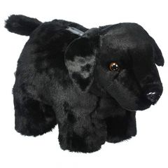 Carstens Black Lab Plush Coin Bank