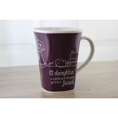 Ollee Bee Color Changing Porcelain Story Mug - Daughter