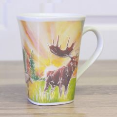 Ollee Bee Color Changing Porcelain Story Mug - Majestic Moose