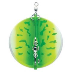 "Luhr Jensen Dipsy Diver #030 Green Fire UV/Chrome Bottom 2-1/4"" 5560-030-1610∗"
