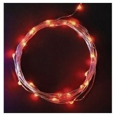 Roman, Inc. Red Starry Lights 10'
