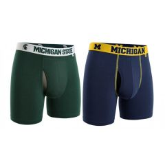2UNDR Michigan or Michigan State Swing Shift Boxer Briefs