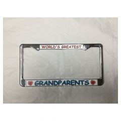 Worlds Greatest Grandparents-License Plate Frame
