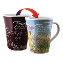 Ollee Bee Color Changing Porcelain Story Mug - Friend