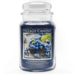 Village Candle Large Jar Scented Candle - Wild Maine Blueberry