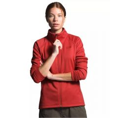 North Face Women's Canyonlands Full Zip Sunbaked Red