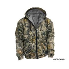 World Famous Sports Hooded Fleece Camo Jacket