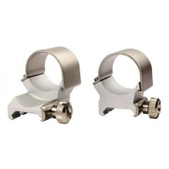 """Weaver Detachable Extension Top Mount Rings - 1"""" High Silver"""