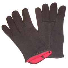 Bonner Red Lined Jersey Gloves - Brown