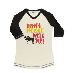 Lazy One Don't Moose With Me Women's Tall Tee