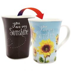 Ollee Bee Color Changing Porcelain Story Mug - You Are My Sunshine